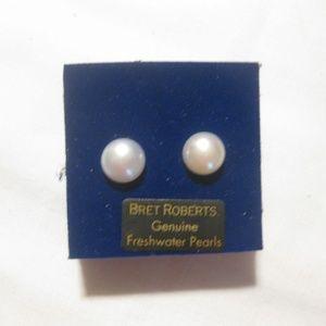 Genuine Freshwater Pearl Pierced Earrings